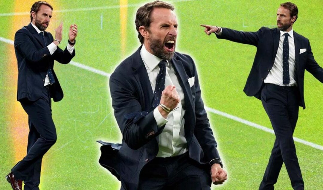 Gareth Southgate doesn't need a waistcoat when he's got this winning suit
